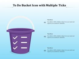 To Do Bucket Icon With Multiple Ticks
