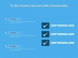 To Do Check List Icon With Checkmarks