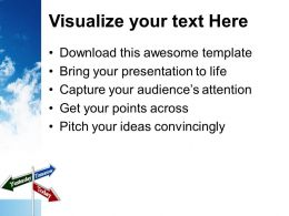 Today Tomorrow Yesterday Signpost Future Powerpoint Templates Ppt Themes And Graphics 0213