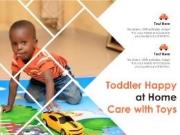 Toddler Happy At Home Care With Toys