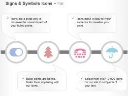 Toggle On Tree Umbrella Calling Phone Ppt Icons Graphics