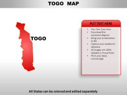 Togo Country Powerpoint Maps
