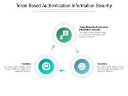 Token Based Authentication Information Security Ppt Powerpoint Presentation File Gridlines Cpb