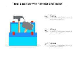 Tool Box Icon With Hammer And Mallet