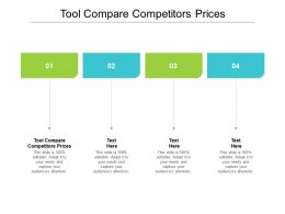 Tool Compare Competitors Prices Ppt Powerpoint Presentation Icon Elements Cpb