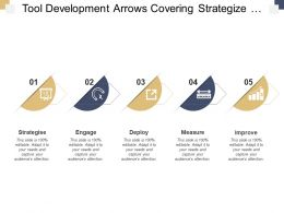 Tool Development Arrows Covering Strategize Engage And Measure