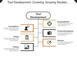 Tool Development Covering Scoping Studies Consultation And Testing