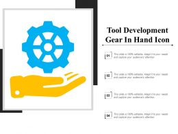 Tool Development Gear In Hand Icon