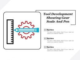 Tool Development Showing Gear Scale And Pen