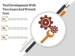 Tool Development With Two Gears And Wrench Icon