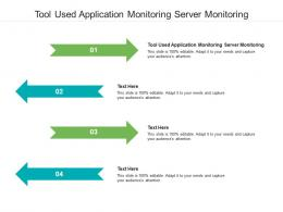 Tool Used Application Monitoring Server Monitoring Ppt Powerpoint Templates Cpb