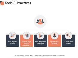 Tools And Practices Risk Mitigation Strategies Ppt Powerpoint Presentation Styles Example Topics