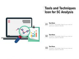 Tools And Techniques Icon For 5C Analysis