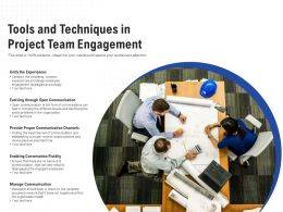 Tools And Techniques In Project Team Engagement