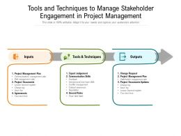 Tools And Techniques To Manage Stakeholder Engagement In Project Management