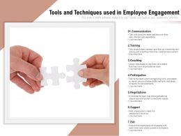 Tools And Techniques Used In Employee Engagement
