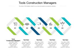 Tools Construction Managers Ppt Powerpoint Presentation Slides Outfit Cpb
