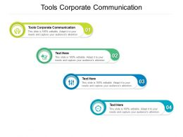 Tools Corporate Communication Ppt Powerpoint Presentation Outline Aids Cpb
