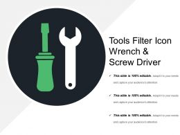 Tools Filter Icon Wrench And Screw Driver