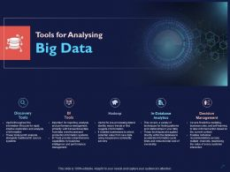 Tools For Analysing Big Data Ppt Powerpoint Presentation Layouts Slides