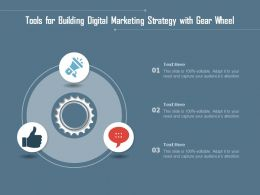 Tools For Building Digital Marketing Strategy With Gear Wheel