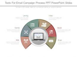 Tools For Email Campaign Process Ppt Powerpoint Slides