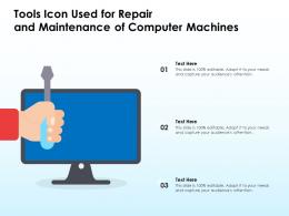 Tools Icon Used For Repair And Maintenance Of Computer Machines