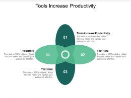 Tools Increase Productivity Ppt Powerpoint Presentation Icon Rules Cpb