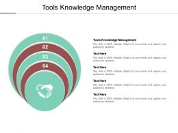 Tools Knowledge Management Ppt Powerpoint Presentation Styles Diagrams Cpb