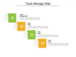 Tools Manage Risk Ppt Powerpoint Presentation Slides Graphic Images Cpb