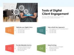 Tools Of Digital Client Engagement