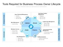 Tools Required For Business Process Owner Lifecycle
