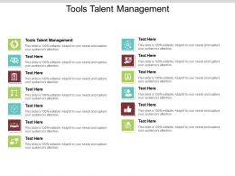 Tools Talent Management Ppt Powerpoint Presentation Infographics Outline Cpb