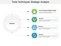 Tools Techniques Strategic Analysis Ppt Powerpoint Presentation Infographics Designs Cpb