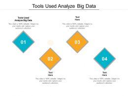 Tools Used Analyze Big Data Ppt Powerpoint Presentation Icon Portfolio Cpb