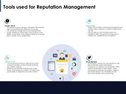 Tools Used For Reputation Management Ppt Powerpoint Presentation Inspiration Deck