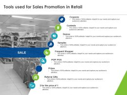 Tools Used For Sales Promotion In Retail Ppt Powerpoint Presentation Inspiration Model