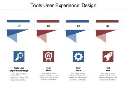 Tools User Experience Design Ppt Powerpoint Presentation Styles Grid Cpb