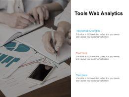 Tools Web Analytics Ppt Powerpoint Presentation Gallery Slide Cpb