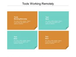 Tools Working Remotely Ppt Powerpoint Presentation Pictures Example Introduction Cpb
