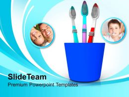 tooth_brushes_in_blue_holder_powerpoint_templates_ppt_backgrounds_for_slides_0213_Slide01