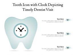 Tooth Icon With Clock Depicting Timely Dentist Visit