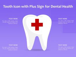 Tooth Icon With Plus Sign For Dental Health