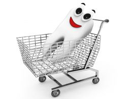 Tooth In Shopping Cart Stock Photo