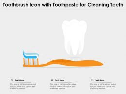 Toothbrush Icon With Toothpaste For Cleaning Teeth