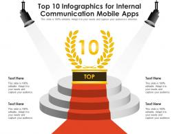 Top 10 For Internal Communication Mobile Apps Infographic Template