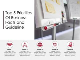 Top 5 Priorities Of Business Facts And Guideline