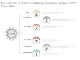 Top Business To Business Marketing Strategies Sample Of Ppt Presentation