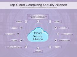 Top Cloud Computing Security Alliance
