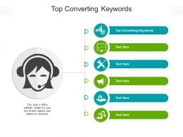 Top Converting Keywords Ppt Powerpoint Presentation Pictures Background Image Cpb